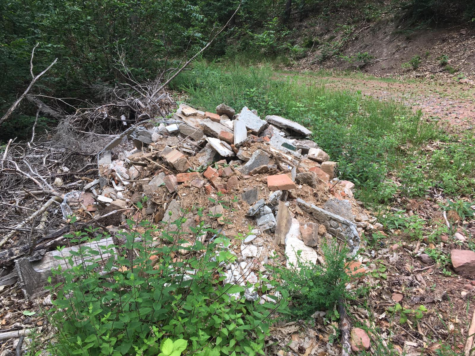 Illegale Bauschuttentsorgung am Königsweg
